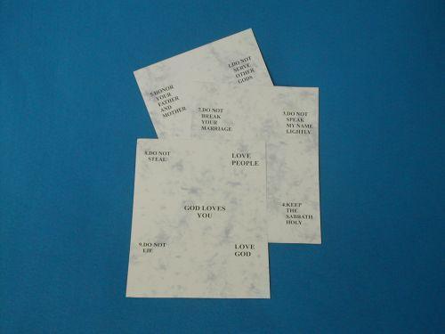 Ten Commandment Cards Prints for Sunday School Lessons