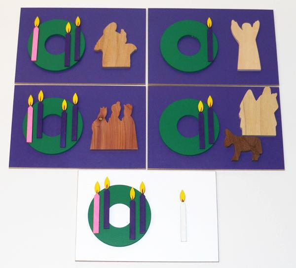Wooden Advent Cards Sunday School Lesson