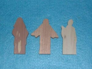 3 Multi-Wood Figures
