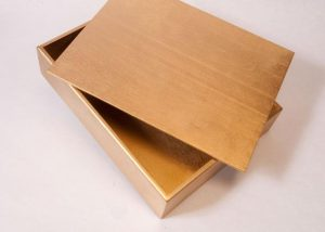 Gold Wooden Parable Box for Sunday School Lessons