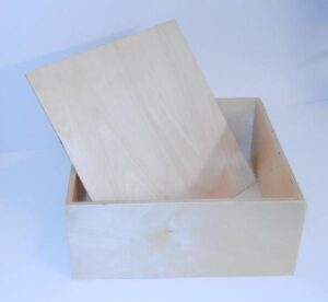 "Wooden 13"" Box for Sunday School Lessons"