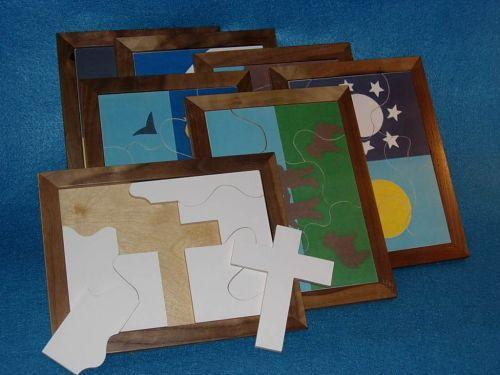 Wooden Creation Puzzles for Sunday School Lessons