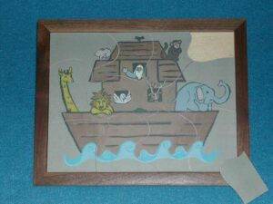 Wooden Noah's Ark Puzzle for Sunday School Lessons