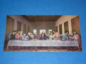 "daVinci's ""The Last Supper"" on wood"