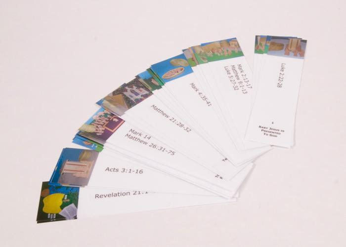 "Bookmarks for ""Following Jesus"" for Sunday School Lessons"