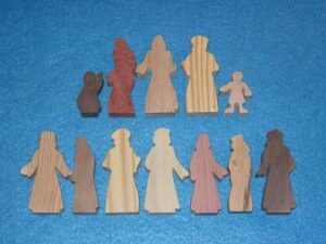 12 Multi-Wood Figures