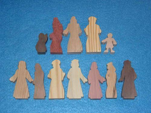 12 Multi-Wood Figures for Sunday School Lessons
