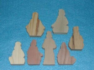 7 Multi-Wood Wood Figures