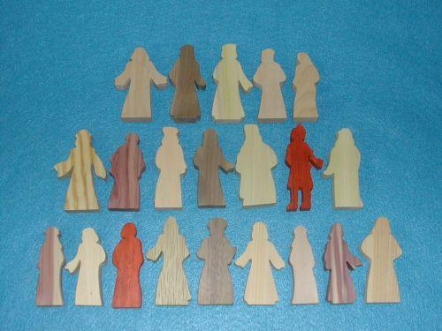21 Multi-Wood Figures for Sunday School Lessons