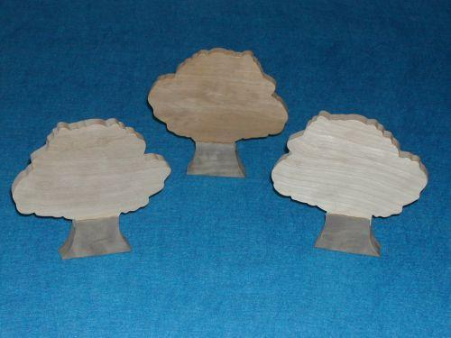3 Wood Trees for Sunday School Lessons