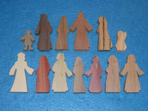 13 Multi-Wood Figures for Sunday School Lessons