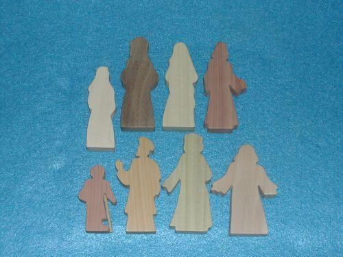 8 Multi-Wood Figures for Sunday School Lessons