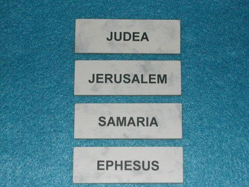 "4 ""City Signs"" for Sunday School Lessons"