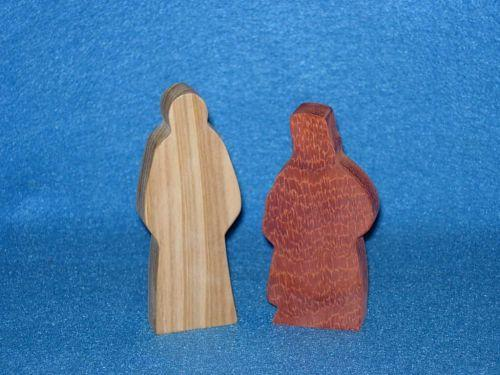 2 Wooden Figures for Francis David Sunday School Lesson