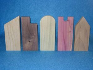 "5 Wooden ""Houses of Worship"" for Francis David Sunday School Lesson"