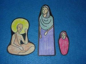 3 Character Pieces for Buddah and the Mustard Seed Medicine Sunday School Lesson