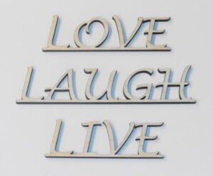 Wooden Laser-Cut Words