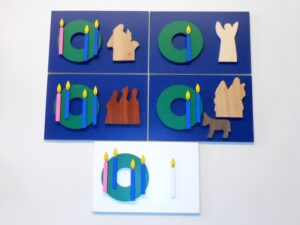Advent Cards (Blue) Multi-Wood