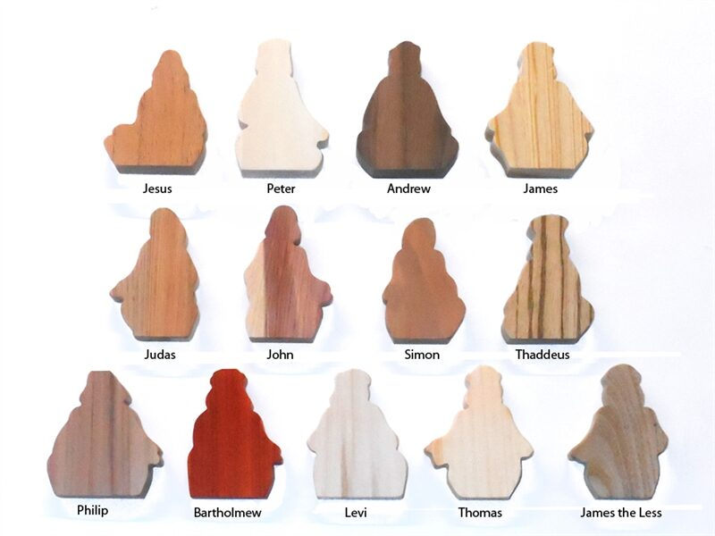 Multi-Wood Disciple Sitting Figures for Sunday School Lessons