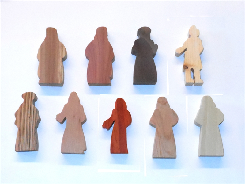 9 Multi-Wood Figures for Sunday School Lessons