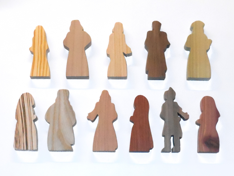 11 Multi-Wood Figures for Sunday School Lessons