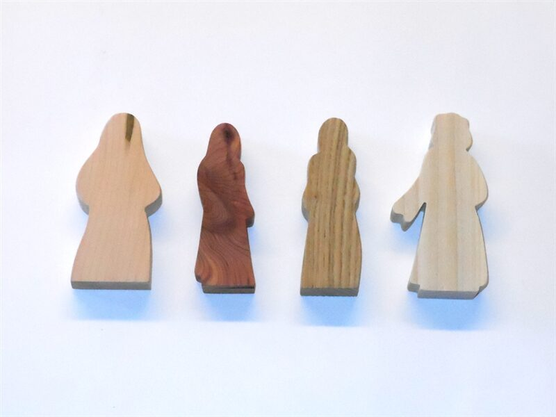 4 Multi-Wood Figures for Sunday School Lessons