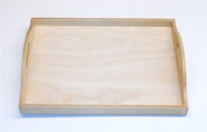 Wooden Tray with Handles for Sunday School Lessons
