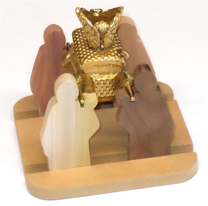 Wooden Priests with Ark for Sunday School Lessons