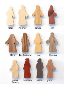 Multi-Wood Disciple Standing Figures for Sunday School Lessons