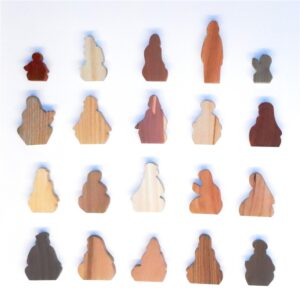 20 Multi-Wood Figures for Sunday School Lessons