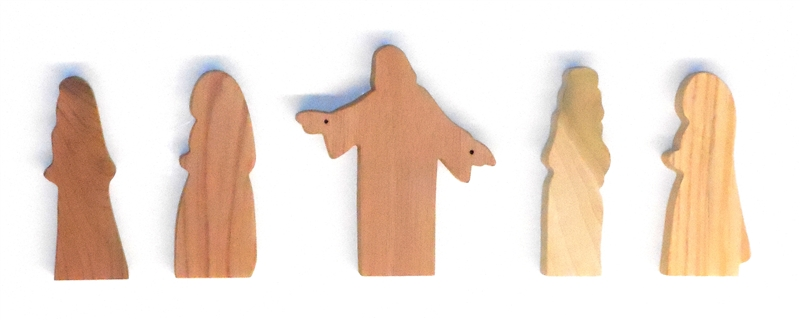 5 Multi-Wood Figures for Sunday School Lessons
