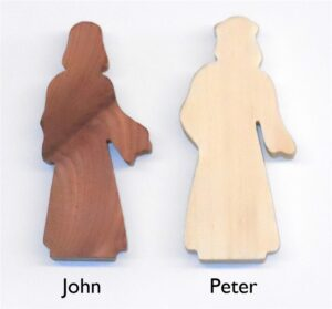 Multi-Wood 2 Disciple Standing Figures for Sunday School Lessons