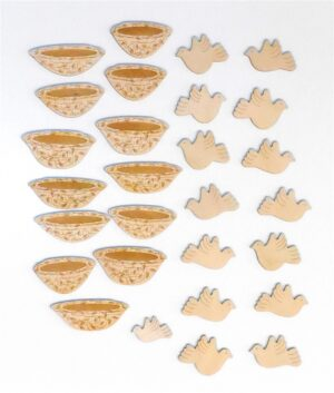 Wooden Mustard Seed Laser-Engraved Pieces Sunday School Lesson