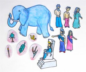 12 Character Pieces for Wise People and the Elephant Sunday School Lesson