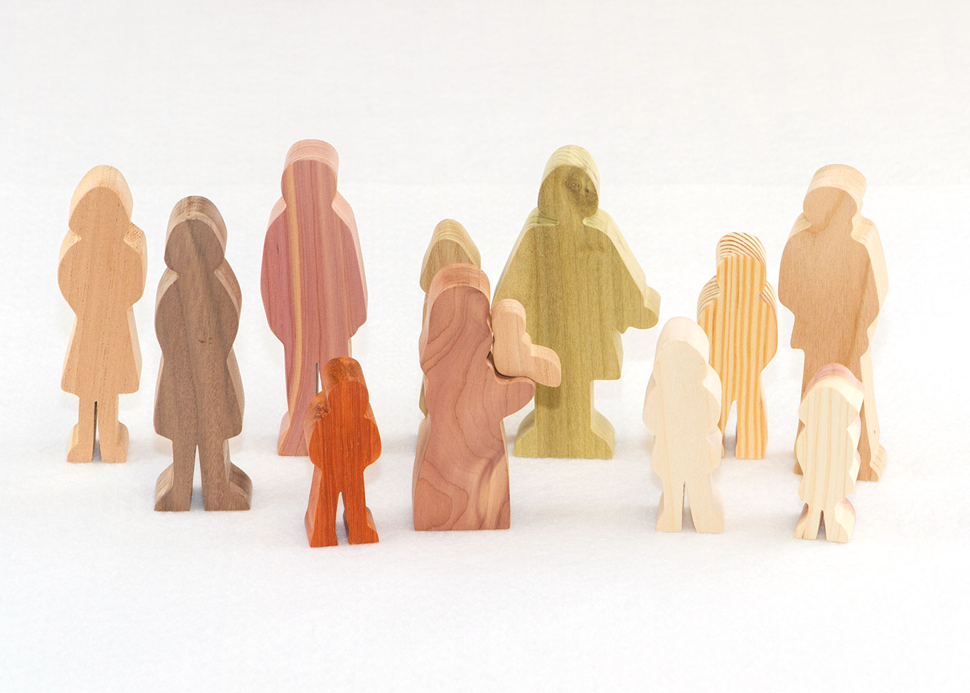 12 Multi-Wood Figures for Sunday School Lesson