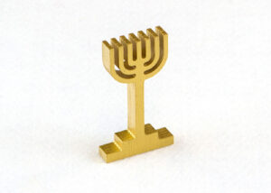 Wooden Menorah for Sunday School Lesson