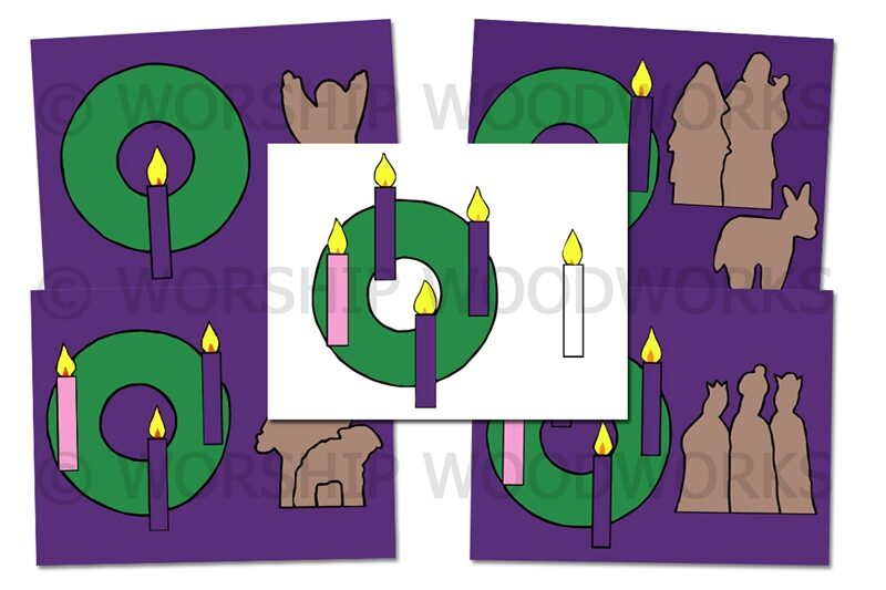 Advent Card Color Prints Laminated Sunday School Lesson