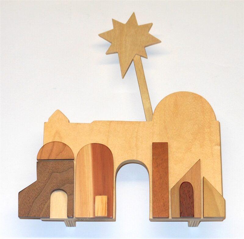 Wooden Mini Bethlehem for Sunday School Lesson