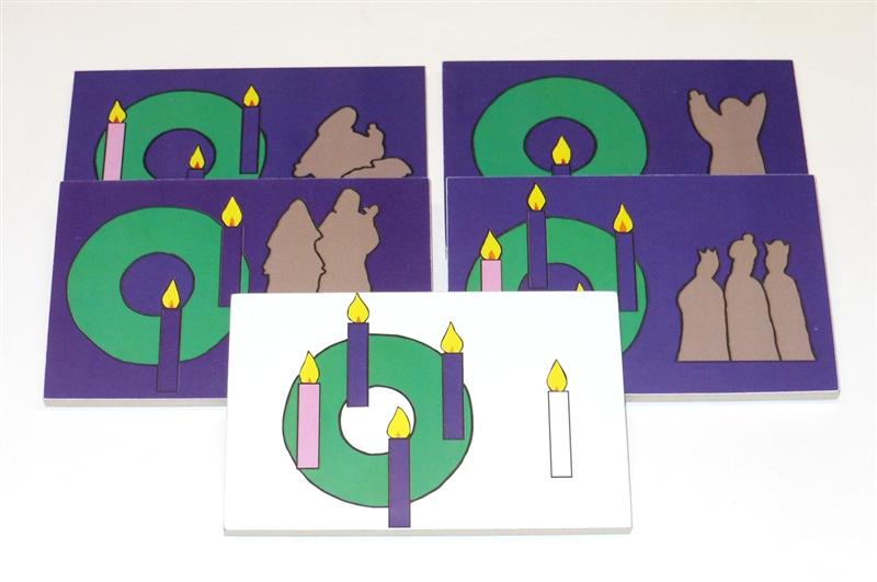 Mini Advent Cards Sunday School Lesson