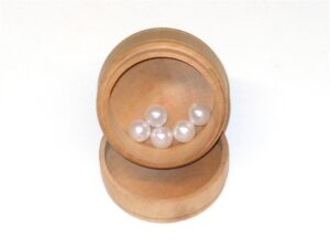 Wooden Container with Pearls for Sunday School Lesson