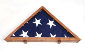 American Veteran Flag Display Case