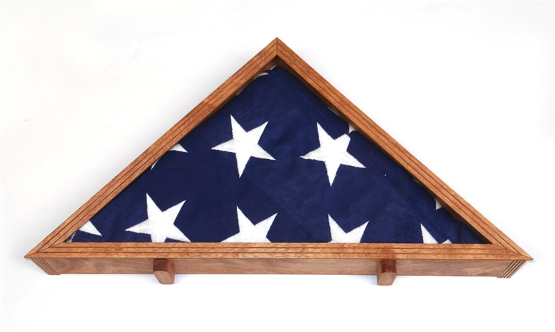 Wooden American Veteran Flag Display Case