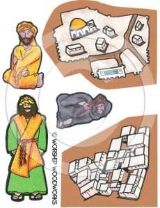 Parable of the Good Samaritan (Laminated Color Prints) Sunday School Lesson