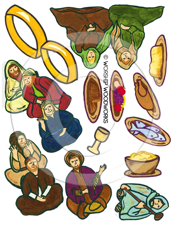 Parable of the Great Banquet (Laminated Color Prints)