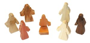7 Multi-Wood Figures for Sunday School Lesson