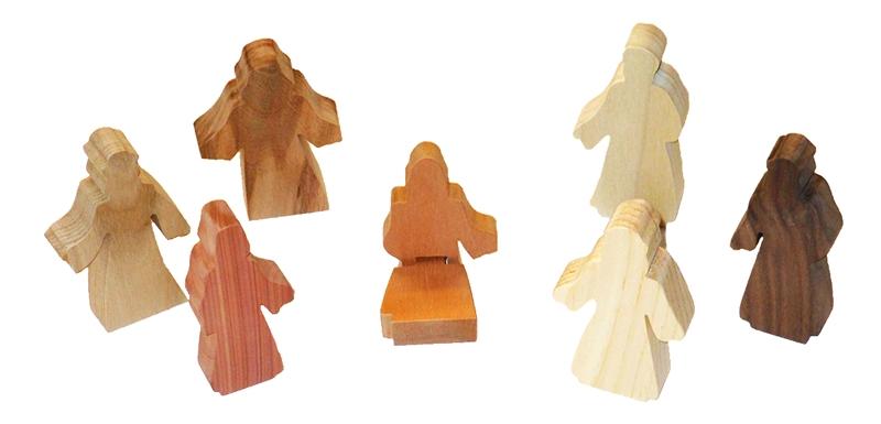 7 Multi-Wood Figures