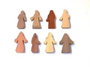 8 Multi-Wood Figures