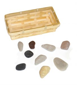9 Rocks & Basket for Sunday School Lesson