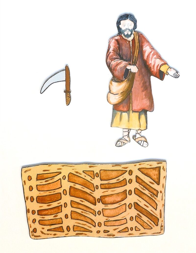 Wooden Parable of the Farmer and the Growing Seed Sunday School Lesson
