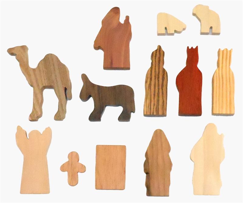 13 Multi-Wood Figures